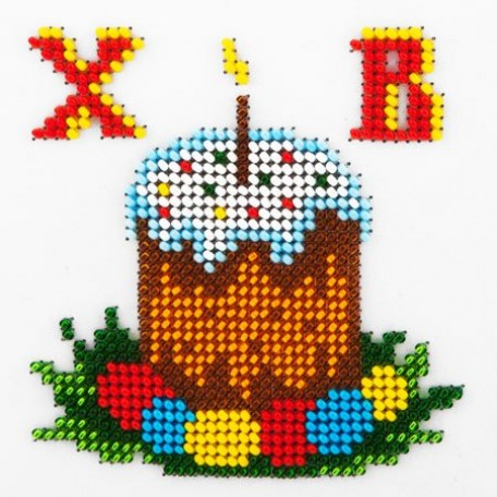 Набор для вышивания бисером LOUISE арт. L402 'Пасха' 11х11