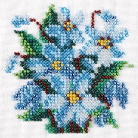 Набор для вышивания бисером LOUISE арт. L421 'Пролески' 11х11