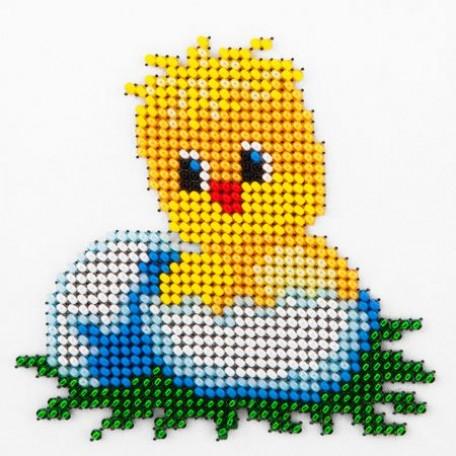 Набор для вышивания бисером LOUISE арт. L423 'Только из яйца' 11х11