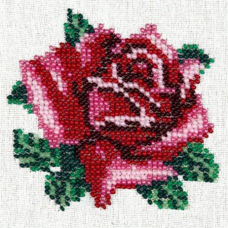 Набор для вышивания бисером LOUISE арт. L426 'Нежная роза' 11х11
