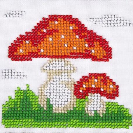Набор для вышивания бисером LOUISE арт. L435 'Мухомор' 11х11