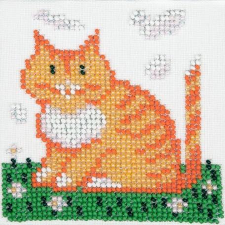 Набор для вышивания бисером LOUISE арт. L437 'Котик' 11х11
