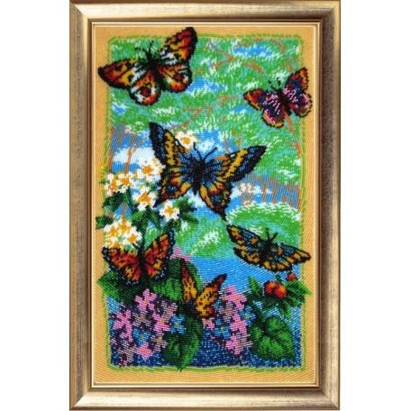Набор для вышивания BUTTERFLY арт. 110 Порхающие бабочки 36х22 см
