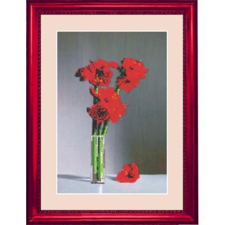Набор для вышивания BUTTERFLY арт. 203 Цветы в стакане 32х21 см