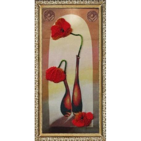 Набор для вышивания BUTTERFLY арт. 205 Маки в вазе 27х13 см
