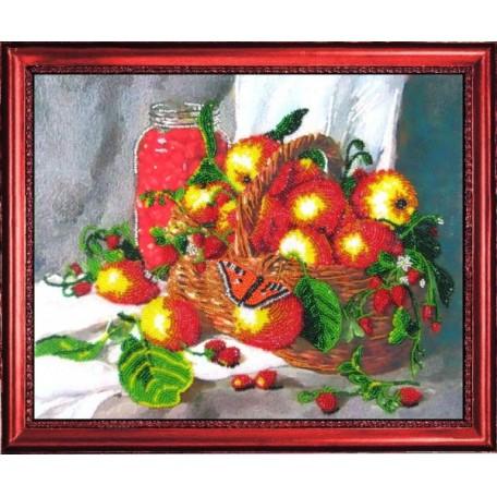 Набор для вышивания BUTTERFLY арт. 213 Земляничный натюрморт 25х31 см