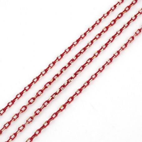 Фурнитура IDEAL plus Цепочка 2 х 3 мм цв. красное золото арт.13010144 уп.1 м