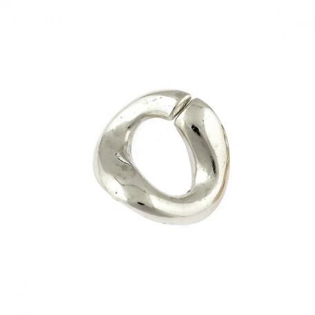 Бусины металлизированные Ideal арт.5014 цв.никель уп.50гр 25х21мм