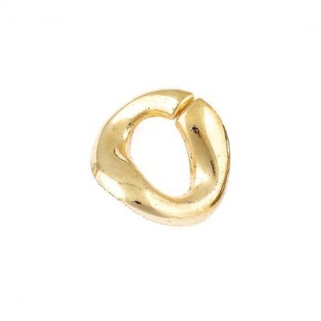 Бусины металлизированные Ideal арт.5014 цв.золото уп.50гр 25х21мм