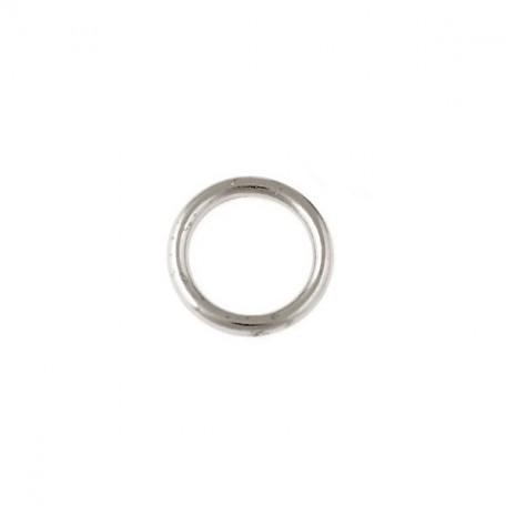 Бусины металлизированные Ideal арт.5022 цв.никель уп.50гр диам.18 мм