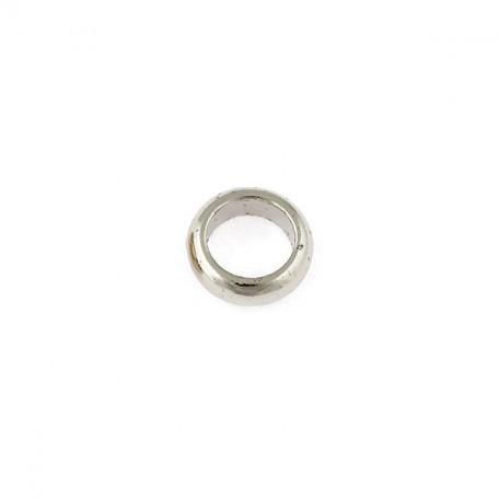 Бусины металлизированные Ideal арт.5023 цв.никель уп.50гр диам.14 мм