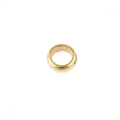Бусины металлизированные Ideal арт.5023 цв.золото уп.50гр диам.14 мм