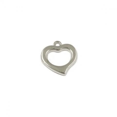 Бусины металлизированные Ideal арт.6046 цв.никель уп.50гр 18х18мм
