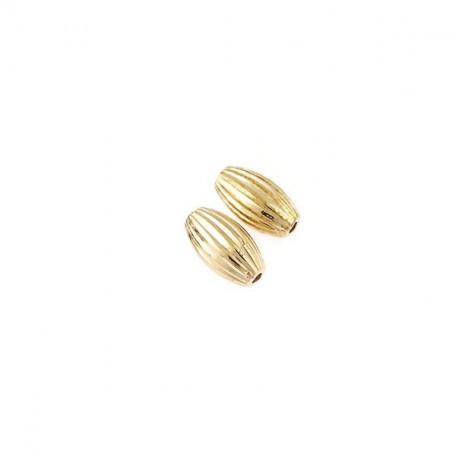 Бусины металлизированные Ideal арт.7014 цв.золото уп.50гр 12х7мм