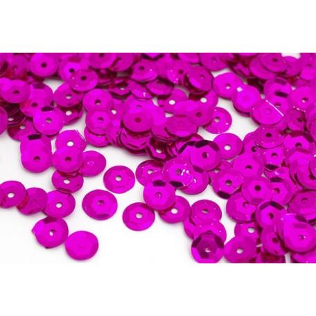 Пайетки россыпью Ideal арт.ТВY-FLK032 8мм цв.08 фиолетовый уп.50гр