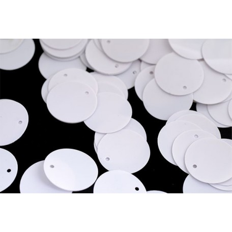 Пайетки россыпью Ideal арт.ТВY-FLK045 35мм цв.035 белый уп.50гр