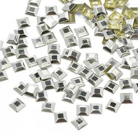Стразы IDEAL термоклеевые металл арт.HTF-4.2S 5х5 мм цв.серебро уп.1400шт