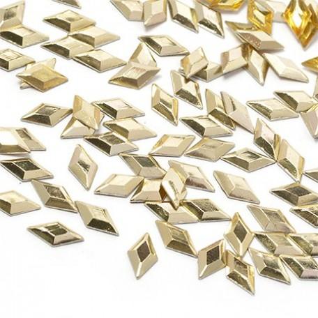 Стразы IDEAL термоклеевые металл арт.HTF-4.3G 4х8 мм цв.золото уп.1400шт