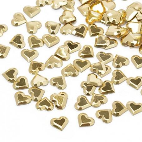 Стразы IDEAL термоклеевые металл арт.HTF-4.4G 6х7 мм цв.золото уп.1400шт