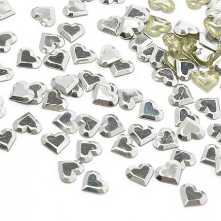 Стразы IDEAL термоклеевые металл арт.HTF-4.4S 6х7 мм цв.серебро уп.1400шт