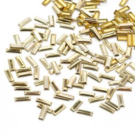 Стразы IDEAL термоклеевые металл арт.HTF-4.5G 2.5х7 мм цв.золото уп.1400шт