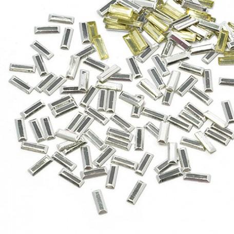 Стразы IDEAL термоклеевые металл арт.HTF-4.5S 2.5х7 мм цв.серебро уп.1400шт