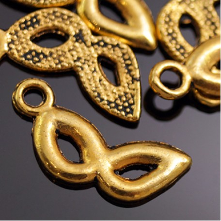 Кулон металл арт. МБ.УТ5634 цв.золото 16х7 мм 20шт.