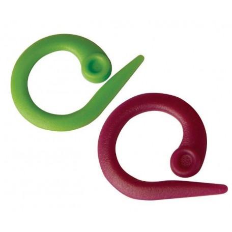 KNPR.10804 Knit Pro Маркировщик для петель 'Круг', пластик, зеленый/красный, 30шт в упаковке