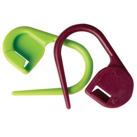 KNPR.10805 Knit Pro Маркировщик для петель 'Булавка', пластик, зеленый/красный, 30шт в упаковке