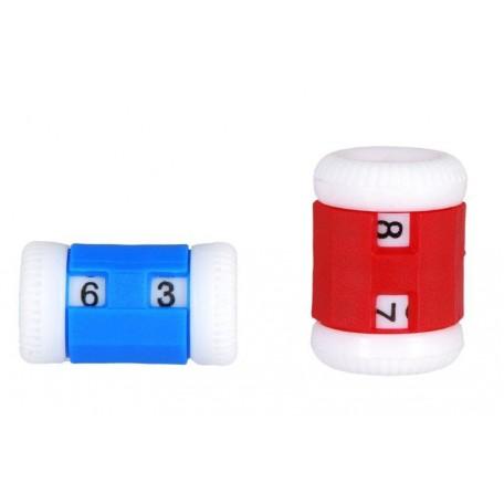 KNPR.10816 Knit Pro Счетчик рядов (маленький 2-5мм, большой 4,5-6,5мм), пластик, синий/красный, 2шт