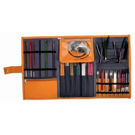 KNPR.10823 Knit Pro Органайзер 'Danube Series' для спиц и крючков 'Bags & Handles' 46*26,5см