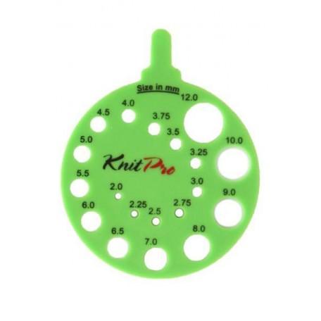 KNPR.10992 Knit Pro Линейка круглая для определения номера спиц, пластик, зеленый