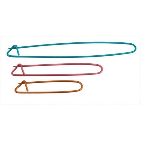 KNPR.45502 Knit Pro Булавки для незакрытых петель , длина 16см, 11см, 8см, алюминий, синий/красный/о