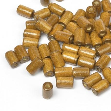 Бусины деревянные MAGIC HOBBY арт.MG-B 481 цв.2 уп.40гр 10х4мм, in d-2 мм 280+/-3 шт.