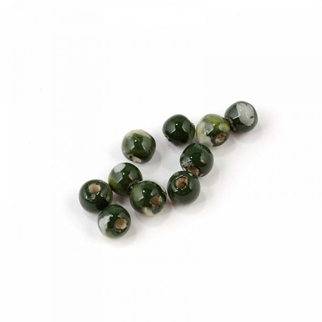 Бусины керамические MAGIC HOBBY арт.MG-CER06 6мм цв.112 зеленый уп.10шт