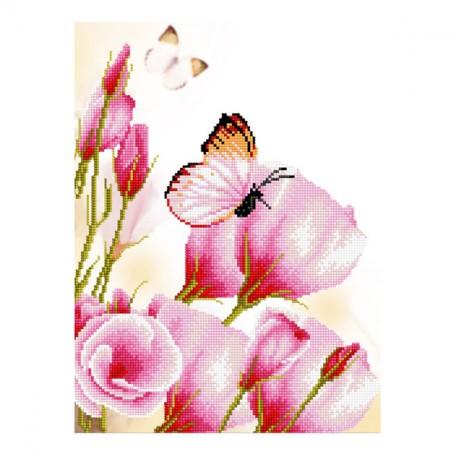 Картины мозаикой Molly арт.EZD010 Частичная Выкладка Боярышница (15 Цветов) 30х40 см
