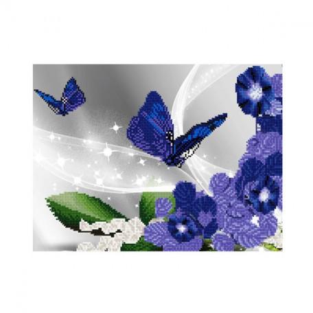 Картины мозаикой Molly арт.EZD015 Частичная Выкладка Вечерние Бабочки (24 Цвета) 30х40 см
