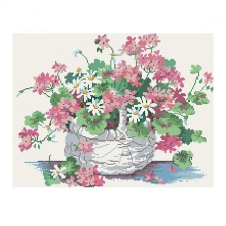 Картины мозаикой Molly арт.GZ013 Полевые Цветы (23 Цвета) 40х50 см