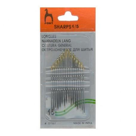 PN.01561 PONY Иглы швейные разм.1-5 уп.16 шт