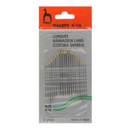 PN.01563 PONY Иглы швейные разм.5-10 уп.20 шт