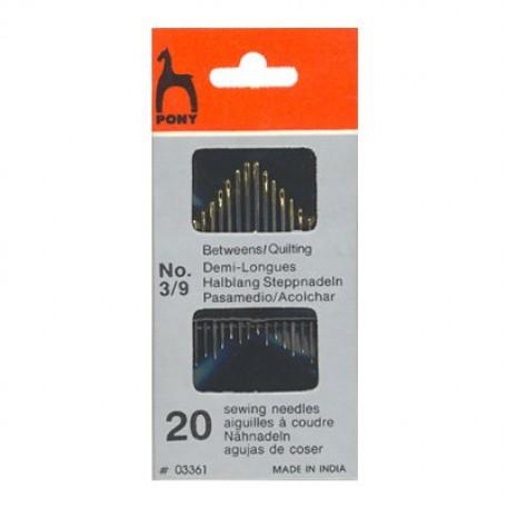 PN.03861 (03361) PONY Иглы портновские грубые разм.3-9 уп.20 шт