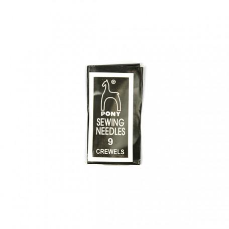 PN.04159 PONY Иглы для вышивания и бисера № 9, 25 шт