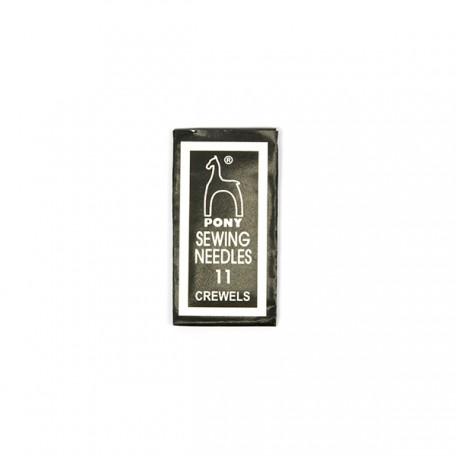 PN.04161 PONY Иглы для вышивания и бисера № 11, 25 шт