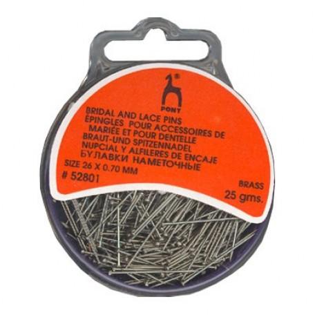 PN.52801 PONY Булавки наметочные для кружева уп.25 гр. сталь