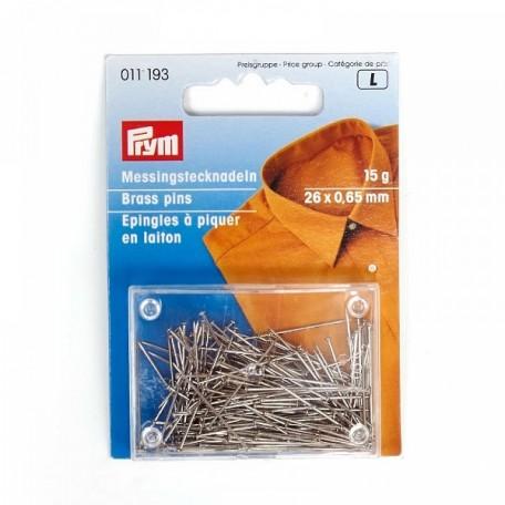 PR.11193 PRYM Булавки-гвоздики для штор, рубашек, блузок 26х0,65 мм латунь с защитой от ржавчины уп.