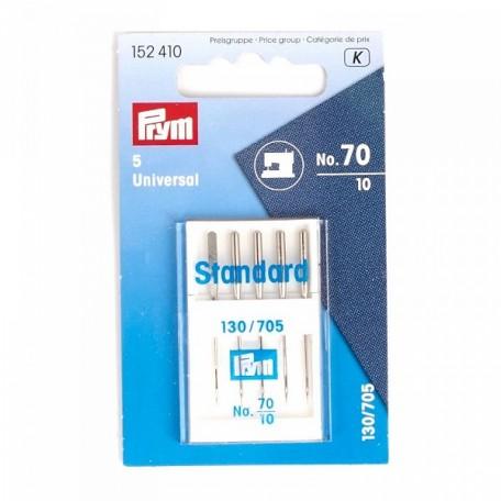 PR.152413 PRYM Иглы для бытовых швейных машин 130/705 Н с плоской колбой №100 уп.5шт в пенале