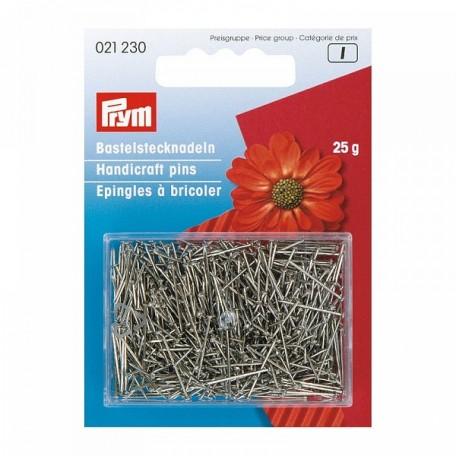 PR.21230 PRYM Булавки серебристые для ручных работ 65 мм железо с защитой от ржавчины уп.25г