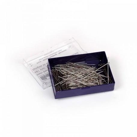 PR.24292 PRYM Булавки для шитья, закаленная сталь, с защитой от ржавчины 30х0,60мм цв. серебро банка