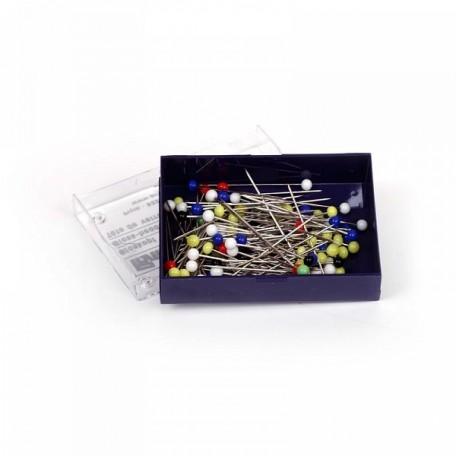 PR.29129 PRYM Булавки со стеклянными головками, цветные, термоуст. закаленные для шитья 30х0,60мм ба