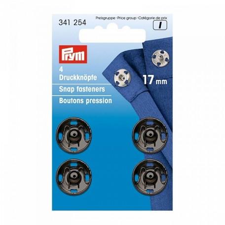 PR.341254 PRYM Пришивные кнопки с отверстием д/фиксации 17мм латунь нержавеющие отбортованная нижняя